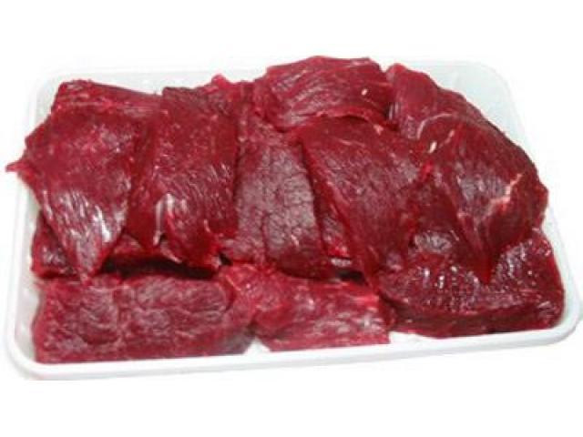 Говядина (гуляш) Среднего размера куски мяса без костей. - 1/1