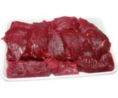 Говядина (гуляш) Среднего размера куски мяса без костей.